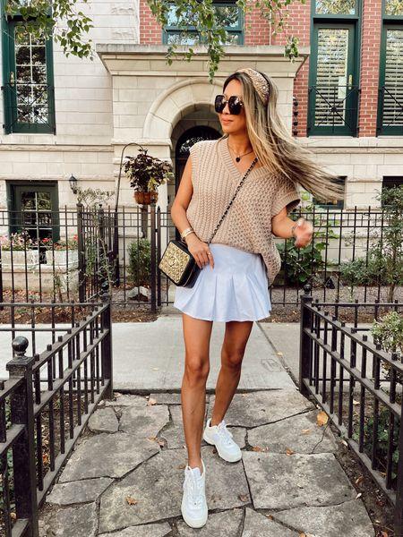 Sweater vest and skort outfit ideas   #LTKSeasonal #LTKstyletip