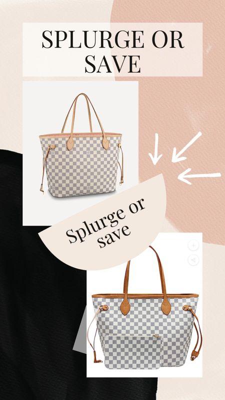 Designer dupe handbag  Lv  Checkered  Designer inspired  Dupes   #LTKstyletip #LTKitbag #LTKsalealert