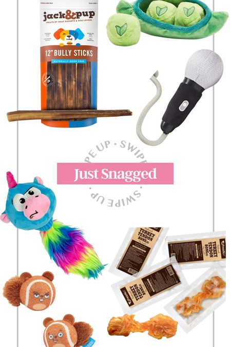 Just snagged from amazon pet edition! Fun finds for my dog coco! Bark box toys dog toy squeaky toy bully stick dog treat dog bones healthy dog treats fetch gift for dog new dog gift puppy gift puppy toy amazon prime amazon pet amazon dog jack and pup treat  #LTKunder50 #LTKunder100 #LTKfamily http://liketk.it/3hQCX #liketkit @liketoknow.it