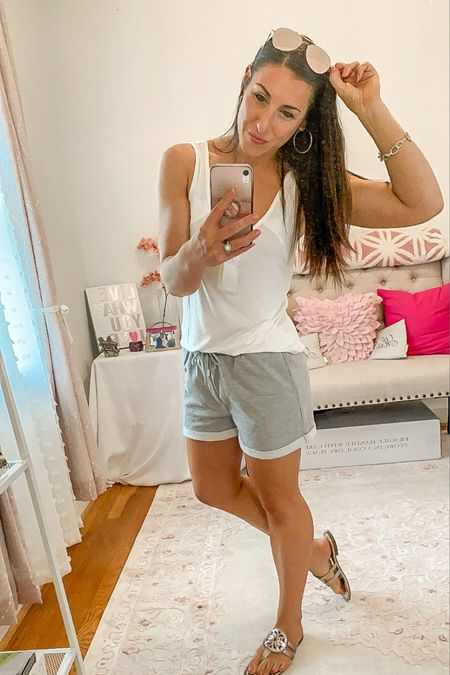 Comfy vibes summer outfit and sunnies http://liketk.it/3gzp7 #liketkit @liketoknow.it #LTKstyletip #LTKshoecrush #LTKunder50