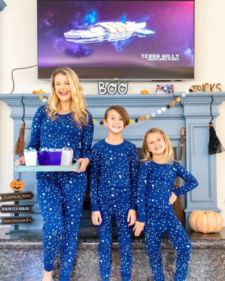 Sprinkle of stars matching pajamas for family movie night http://liketk.it/2ZMFX #liketkit @liketoknow.it #matchymatchy #matchingpajamas #pajamas #pjs #loungewear #matchingfamily #matchingoutfits #stars