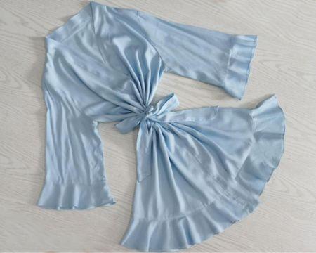 Blue robe by HomeClothDesign shop on Etsy'   http://liketk.it/3jryv @liketoknow.it #liketkit #LTKwedding #LTKstyletip #LTKsalealert