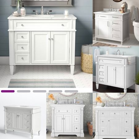 Memorial Day Sale— Looking for transitional bath vanities?  our handpicked white vanities are the perfect answer thanks  to their clean-lined yet to-the-detail design.   #LTKsalealert #LTKhome