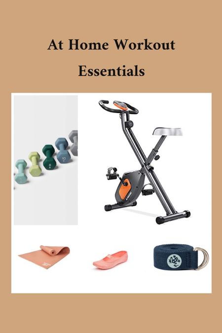 Workout essentials, yoga mat, sock shoes, exercise bike, weights, yoga strap, workout equipments, at home workout equipment, affordable workout equipment, under 20$ to under 130$  #LTKunder50 #LTKFall #LTKhome