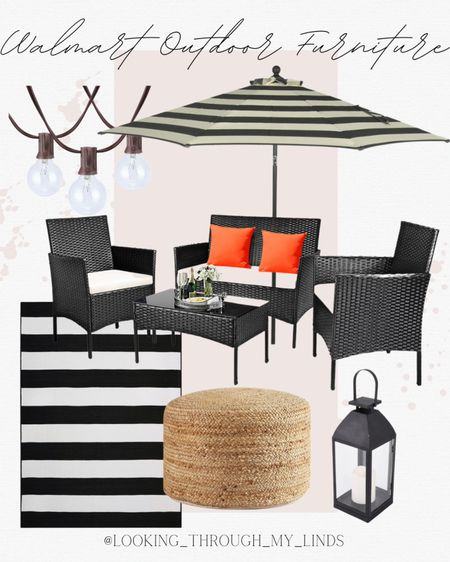 Outdoor furniture   patio furniture   patio set   outdoor umbrella   outdoor rug   #LTKsalealert #LTKunder50 #LTKhome