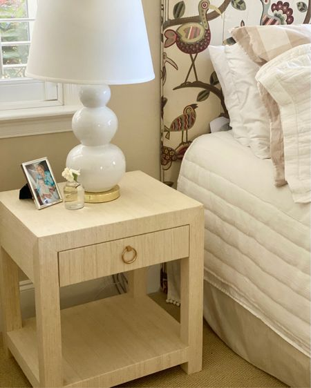 Hands down the best nightstand EVER from Serena & Lily.  Part beachy, part modern, this is a room-changer that doesn't skimp on style. The Parsons-inspired frame is wrapped by hand in woven raffia, then given FIVE coats of clear lacquer for a clean finish. A touch of brass on the drawer (LOVE being able to stash remotes) adds polish to relaxed raffia.  An updated classic!    Beds   home decor   home accents   home accessories   furniture   bedroom decor   furniture   nightstand   http://liketk.it/3hi4U #liketkit @liketoknow.it #LTKhome #LTKstyletip