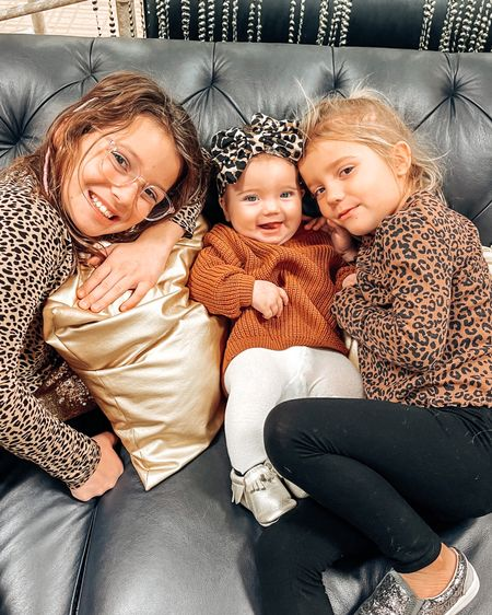 God gave me them for the ups and downs ♥️  And we've had WAY more ups. And as a tried and true optimist, the ups are what I choose to focus on.  Where are my optimists at? 🙋🏼♀️  Roe's oversized sweater is under $20 and prime shipping - color A- yellow. I sized up to a 9-12 months. Also linked the girls leopard tops because leopard should always be a staple in every girls' closet. You can instantly shop my looks by following me on the LIKEtoKNOW.it shopping app. #LTKbaby #LTKkids #LTKunder50 @liketoknow.it @liketoknow.it.family http://liketk.it/33nWT #liketkit