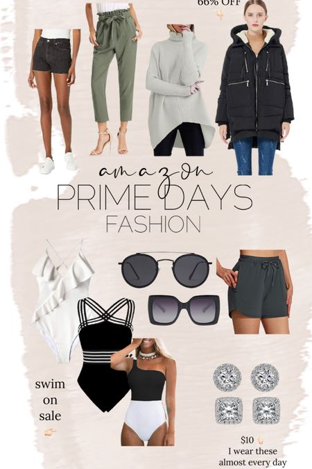 Amazon prime day // women fashion // swim // sunglasses // coat // sweater // shorts // http://liketk.it/3i3ti @liketoknow.it #liketkit #LTKunder50 #LTKsalealert #LTKstyletip