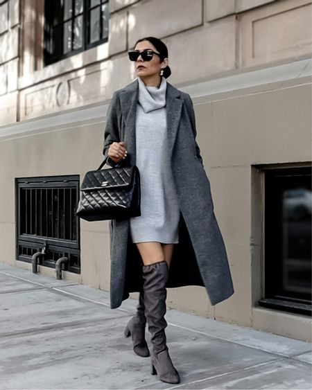 Sweater dress Sweater dresses Knit dress Coat and knit dress outfit Falk outfit Fall inspo Express Lulus   #LTKSeasonal #LTKunder100 #LTKSale