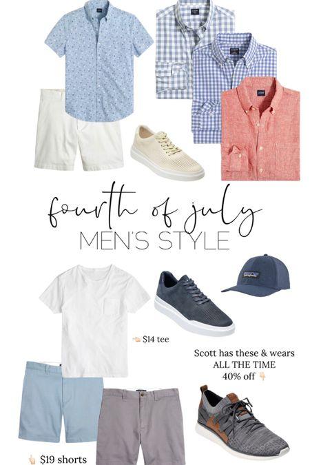 Fourth of July // men // men fashion // summer outfit // shorts // tees  // http://liketk.it/3iek3  // @liketoknow.it #liketkit #LTKunder50 #LTKbaby #LTKsalealert
