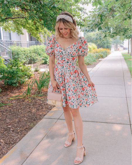 Super casual Wednesday 'fit 🌸 So are dresses casual, or more dressed up to you? I live in dresses (if you couldn't tell), so I think they're super casual! But what's your take? . . . You can shop this cutie dress from @chicwish🎀🌸    #LTKstyletip #LTKunder50 #LTKsalealert