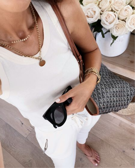 Amazon fashion, Amazon finds, joggers, tank, Stylinbyaylin  Follow my shop on the @shop.LTK app to shop this post and get my exclusive app-only content!  #liketkit  @shop.ltk http://liketk.it/3nIVZ