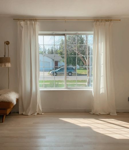 curtains + curtain rod