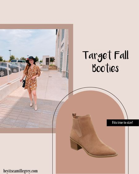 Target fall booties. Comes in multiple colors and fits true to size. So comfy! Perfect with dresses or jeans   #LTKshoecrush #LTKSeasonal #LTKbump