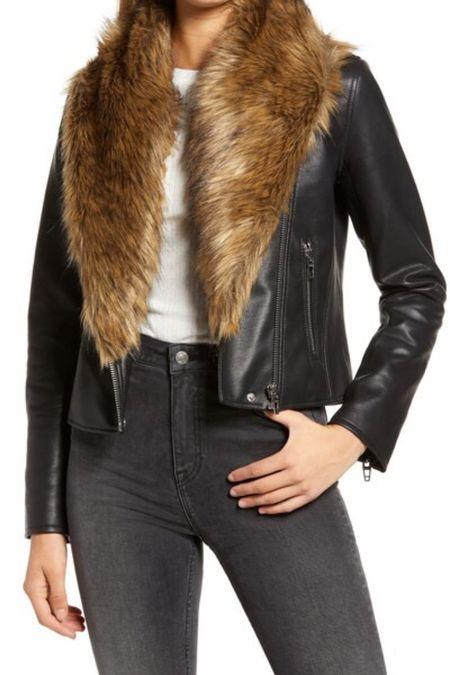 BLANKNYC fur trim jacket | faux leather jacket | BLANKNYC Moto jacket | fur trim coat | nsale | Nordstrom | fall jacket | winter jacket #LTKsalealert #LTKunder100 #LTKstyletip @liketoknow.it #liketkit http://liketk.it/2VxYa