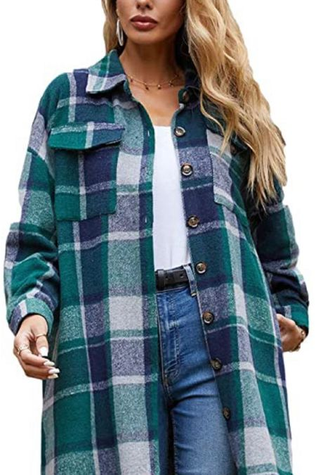 Amazon Find: Shackets   Shackets are still hot. I don't see why not. It's basically a long flannel!   #LTKstyletip #LTKunder50