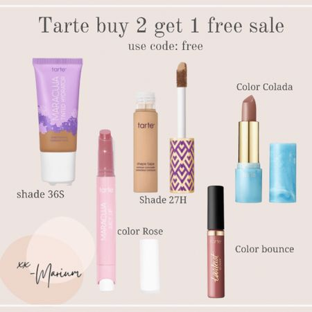 My favorite tarte picks. Use code Free for a buy 2 get 1 free. Also free shipping on all orders!   #LTKbeauty #LTKGifts #LTKSale