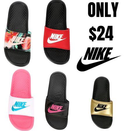 NIKE SALE!! $24 Nike Sandals & Slides  http://liketk.it/3gL1E #liketkit @liketoknow.it #LTKunder50 #LTKsalealert #LTKshoecrush