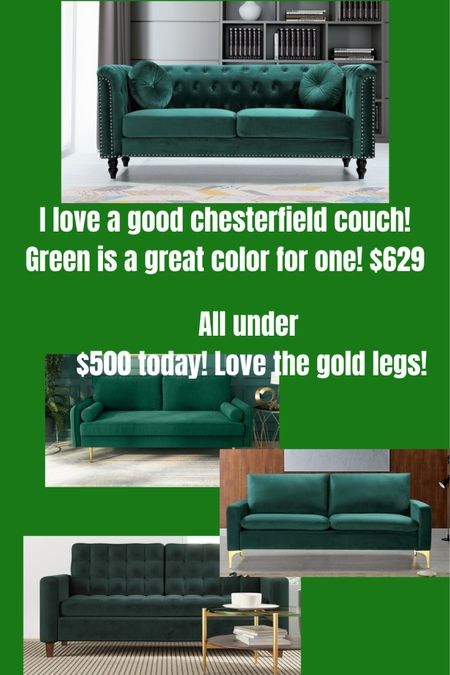 Green couches in velvet on the Wayfair sale!! http://liketk.it/3eawN #liketkit @liketoknow.it #LTKsalealert #LTKhome @liketoknow.it.home Shop your screenshot of this pic with the LIKEtoKNOW.it shopping app