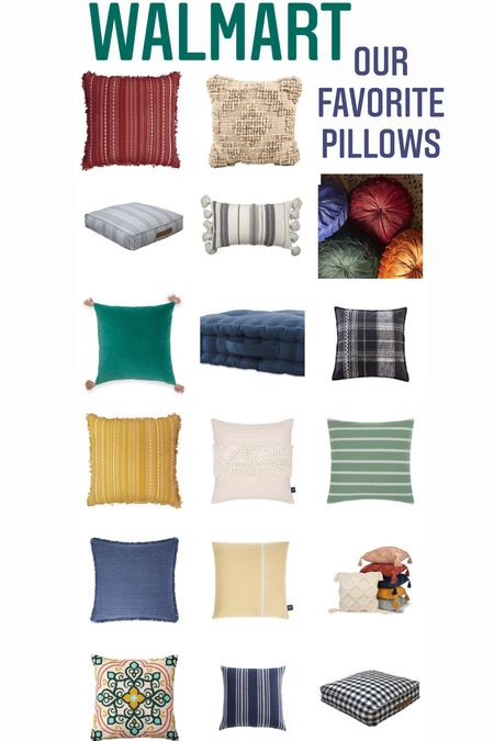 Some of our favorite decor pillows are from Walmart! (#ad) Check them out here! #Walmart #walmarthome @walmart  #LTKhome #LTKsalealert #LTKunder50