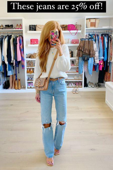 Best jeans and 25% off with the ltksale!! I wear my normal size and regular length   #LTKstyletip #LTKunder100 #LTKSale