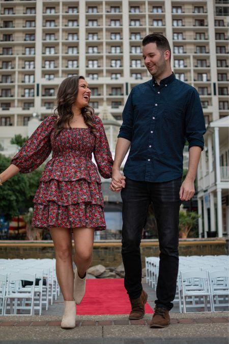 Perfect Fall Wedding Guest Dress 🍁❤️  #LTKHoliday #LTKwedding #LTKSeasonal