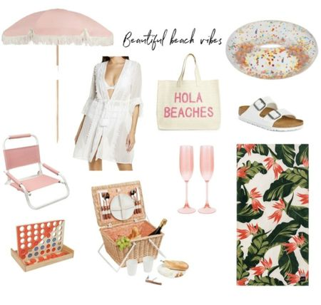 Beach party, beach outfit, champagne, beach towel, coverup, swim, beach tote, Nordstrom #LTKSeasonal #LTKunder100 #LTKtravel     http://liketk.it/3i0X1 @liketoknow.it #liketkit