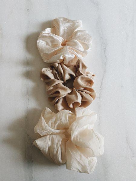 Large scrunchies #hair  #LTKbeauty