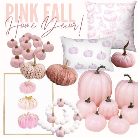 How darling is this pink fall decor from Amazon and Etsy?! I love the light pink tones and patterns for fall! #homedecor #falldecor #fall #decor #home #fall  #LTKSeasonal #LTKhome #LTKunder50