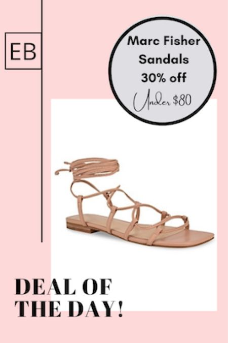 Neutral leather sandals on sale in blush. http://liketk.it/3fPuW @liketoknow.it #liketkit #LTKunder100 #LTKshoecrush #LTKsalealert Screenshot this pic to get shoppable product details with the LIKEtoKNOW.it shopping app