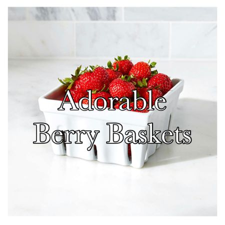 """These """"farmer's market style"""" berry baskets will look so adorable on your serving table holding berries and other goodies!!🍓🍒.   I really looked for some serving dishes that were Dishwasher safe and these fit the bill!  They are Dishwasher, microwave, oven and freezer-safe!! 🍓🙌   http://liketk.it/3jkSi  You can instantly shop my decor & favorite finds by following me on the LIKEtoKNOW.it shopping app!     #liketkit #LTKunder50 #LTKstyletip #LTKfamily @liketoknow.it.home @liketoknow.it"""