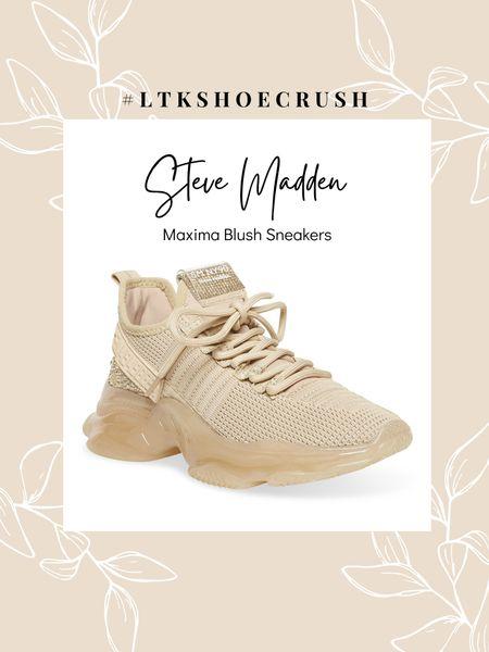 Steve Madden Maxima Blush Multi Sneakers  order half a size up | comes in 11 colors    #LTKshoecrush #LTKfit #LTKunder100