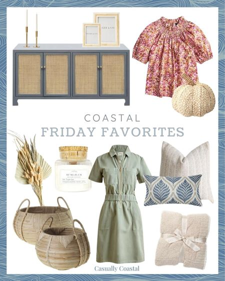 This week's Friday Favorites! This utility-inspired dress is currently 24% off, and sizes are selling out fast. This Barefoot Dreams throw also comes in many colors and is almost 40% of the retail price!  - neutral fall decor, natural fall decor, fall home decor, fall decorating, fall decorations, fall home decorations, home decor, decor under 50, home decor under $50, coastal decor, beach house decor, beach decor, beach style, coastal home, coastal home decor, coastal decorating, coastal interiors, coastal house decor, home accessories decor, coastal accessories, blue and white home, blue and white decor, neutral home decor, cane, seagrass, rattan, stems for vase, dried florals, dried palms, coffee table decor, bookshelf decor, textured decor, work tops, tops with ruffles, ruffled tops, fall fashion, jcrew tops, fall tops, puff sleeve tops, floral tops, short sleeve tops, smocked neck tops, pink tops, jcrew dresses, green dresses, zip front dresses, chino dresses, utility dresses, dresses with pockets, fall pillow covers, neutral fall pillows, neutral fall pillows, blue and white pillows, 24x24 pillow covers, 20x20 pillow covers, lumbar pillow covers, Etsy pillow covers, pumpkin candles, calini coastal, megan molten, cane baskets, barefoot dreams blankets, gifts for her, cozy blankets, fall throw blankets, neutral throw blankets, grey cabinets, cane cabinets, cane buffet, coastal buffets, entryway cabinets, media cabinets, brass candle holders, tapered candle holders, mantle decor, picture frame set, 4x6 picture frames, 5x7 picture frames, photo frame sets, photo frames, picture frames, bone frames, mcgee & co, woven pumpkins, target pumpkins, neutral pumpkins, rattan pumpkins, fall candles, pumpkin spice candles, white fall candles  #LTKSeasonal #LTKhome #LTKSale