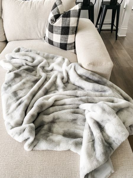 The coziest fall decor includes this incredible faux fur blanket. More details on my blog now!     #LTKSeasonal #LTKhome #LTKunder50