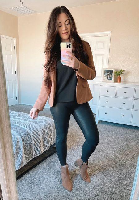 Women's fall outfit spanx leggings   #LTKunder50 #LTKstyletip #LTKshoecrush