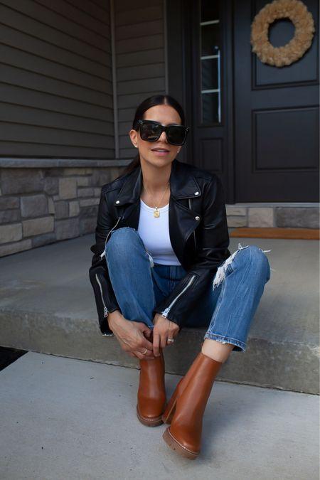 My favorite brown booties are ON SALE at Nordstrom! 🍂🤎  #LTKseasonal #LTKsale #boots #ToryBurch #fallfashion #falloutfit #denim #leatherjacket #whitecrop #whitebasictee  #LTKshoecrush #LTKsalealert #LTKSeasonal
