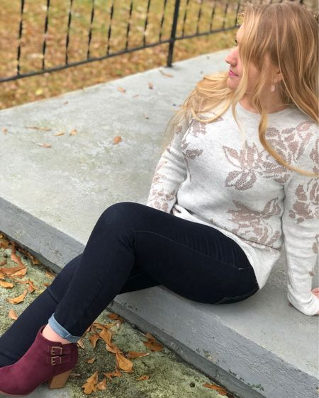 Need a cute holiday sweater that's not overly festive? ✨ This chic beauty is slightly shimmered and pairs great with jeans or dress pants! (This pullover is from last year, but I found an identical one!)  _______________________________________  Follow me on the free LIKEtoKNOW.it app to get the product details for this look and others! Or, click the 'Get The Look' tab from the link in my bio! 😘  @liketoknow.it #liketkit #LTKstyletip #LTKsalealert #LTKunder50 #LTKholidaystyle #LTKunder100 http://liketk.it/2yDT8
