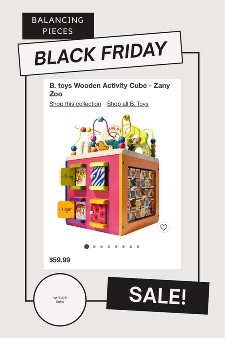 Wooden Activity Cube! My kids love this one.  Part of the BOGO 50% sale! #blackfriday #blackfridaysale http://liketk.it/32qax #liketkit @liketoknow.it #LTKgiftspo #LTKfamily #LTKkids @liketoknow.it.home