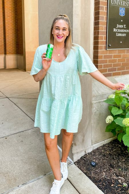 My summer mint uniform with sneakers and layered necklace http://liketk.it/3iDJ1 #liketkit @liketoknow.it @liketoknow.it.family You can instantly shop my looks by following me on the LIKEtoKNOW.it shopping app   #LTKsalealert #LTKtravel #LTKunder50