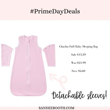 Baby sleeping sack with detachable sleeves to grow with them! On sale with Amazon prime deals   #LTKunder50 #LTKbaby #LTKsalealert