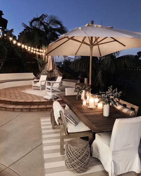 Outdoor patio, patio furniture, outdoor dining, Stylinaylinhome @liketoknow.it #liketkit http://liketk.it/3hSzy               #LTKunder100 #LTKhome #LTKstyletip