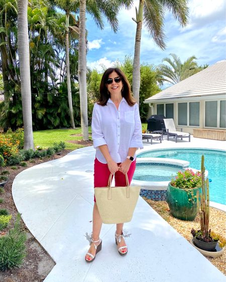 My vacay #summerstyle always includes several pairs of my favorite shorts. Perfect for staycations or vacations here in South Florida, and also for other warm weather destinations. 🌴   These @lovechicos shorts and no-iron linen shirt are staples in my suitcase!  #glamma #southflorida #sparkleandshine #shinebright #over60andfabulous #ageisjustanumber  #poolsidevibes #mystylemyway #styleover50 #shareootdinspirations #nancysfahionstyle #lovechicos #vacaystyle #summertravel    http://liketk.it/3j27u #liketkit @liketoknow.it  MYou can instantly shop all of my looks and fave products by following me on the LIKEtoKNOW.it shopping app