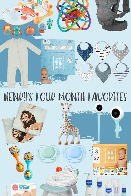 Baby boy four month favorites!