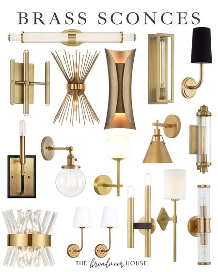 All of these bra sconces are from Amazon! Brass Lighting, Brass sconce, hallway lighting, entryway lighting, bathroom lighting, brass hardware, gold hardware, gold light, wall light, home decor, fall decor, kitchen, dining room, bathroom light,  #LTKstyletip #LTKSeasonal #LTKhome
