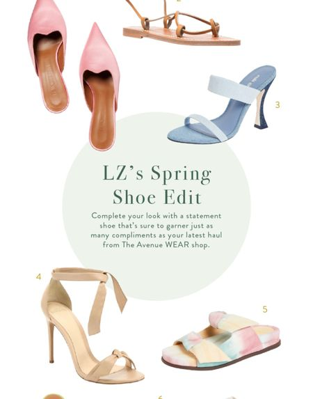 My favorite sneakers, sandals & heels for warmer weather.