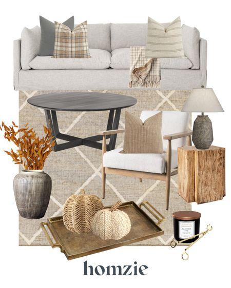 Fall decor, pumpkins, fall throw pillow, fall throw blanket, fall florals, rustic vase, fall living room, fall living room decor, fall styling   #LTKSeasonal #LTKhome