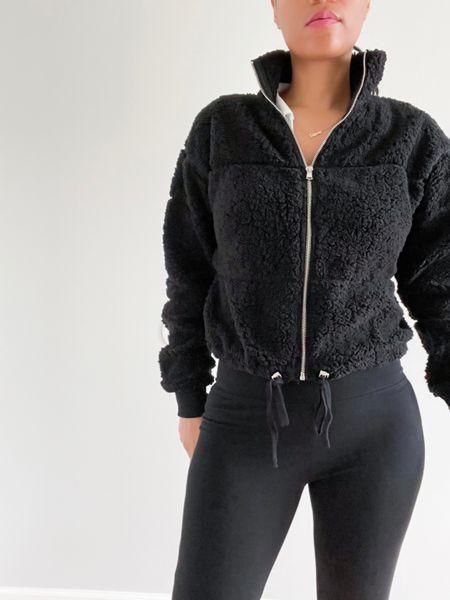 Swipe ➡️ Do you like my jacket?🖤🤍   #LTKSpringSale #LTKunder100 #LTKfit