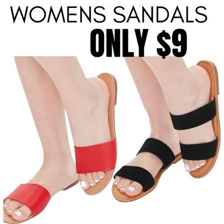 Women's Sandals over 16 styles UNDER $10! Click any image to browse the styles you like.  #summer #sandals #slides http://liketk.it/3fQY7 #liketkit @liketoknow.it #LTKsalealert #LTKunder50 #LTKshoecrush
