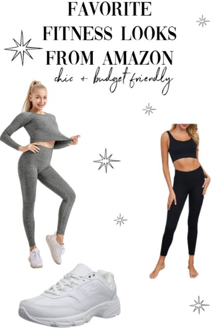 Favorite fitness looks workout sets from Amazon   #LTKfit #LTKunder50