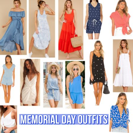 Memorial Day Outfit Inspo  #ootd #memorialday #bloggerstyle #shopreddress #pinklilyboutique #revolve #revolveme #styleblogger #redwhiteblue #patriotic #starsandbars #america #tiedye #trending #trend #ltktrend #ltkstyle #wfh #workfromhome #StayHomeWithLTK #romper #dress #LTKunder100 #LTKspring #liketkit @liketoknow.it http://liketk.it/2P3OE